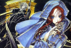 Rating: Safe Score: 8 Tags: abel_nightroad esther_blanchett thores_shibamoto trinity_blood User: Radioactive
