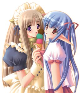 Rating: Safe Score: 15 Tags: carnelian elf fairy_factory maid pointy_ears seika touka_(fairy_factory) User: Anonymous