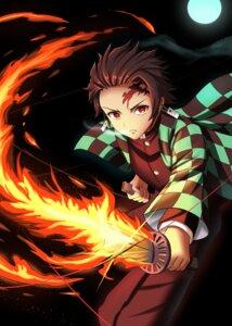 Rating: Safe Score: 7 Tags: enter_(artist) japanese_clothes kamado_tanjirou kimetsu_no_yaiba sword uniform User: popcorn1239