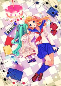 Rating: Safe Score: 17 Tags: amazawa_koma dress hatsune_miku kagamine_rin seifuku vocaloid User: fairyren
