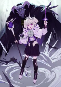 Rating: Safe Score: 3 Tags: blood horns kamameshi_gougoumaru thighhighs torn_clothes weapon User: yanis