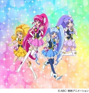 Rating: Safe Score: 10 Tags: aino_megumi happiness_charge_precure! heels hikawa_iona oomori_yuuko pretty_cure shirayuki_hime_(precure) thighhighs User: saemonnokami