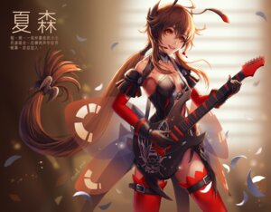 Rating: Safe Score: 41 Tags: animal_ears cleavage guitar headphones mool_yuegang no_bra thighhighs vocaloid yuezheng_ling User: Mr_GT