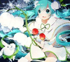Rating: Safe Score: 35 Tags: hatsune_miku thighhighs uiyuzo vocaloid yuki_miku User: charunetra