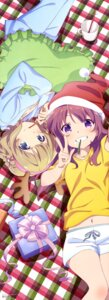Rating: Safe Score: 28 Tags: christmas gi(a)rlish_number karasuma_chitose_(giarlish_number) kugayama_yae pajama yuminzi User: drop