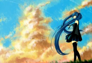Rating: Safe Score: 17 Tags: hatsune_miku thighhighs todorokisora vocaloid wallpaper User: fireattack