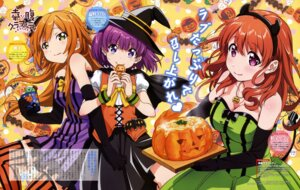 Rating: Safe Score: 45 Tags: cleavage devil dress halloween horns koufuku_graffiti machiko_ryou morino_kirin shiina_(koufuku_graffiti) shiotsuki_kazuya tail thighhighs witch User: drop