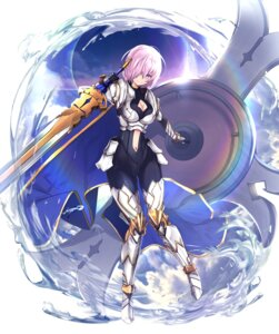 Rating: Safe Score: 27 Tags: armor bodysuit cleavage fate/grand_order mash_kyrielight sword untsue User: Mr_GT