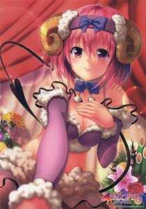 Rating: Safe Score: 45 Tags: cleavage fishnets horns momo_velia_deviluke pantyhose tail to_love_ru to_love_ru_darkness yabuki_kentarou User: DDD