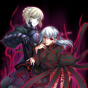 Rating: Safe Score: 23 Tags: armor da-cart dark_sakura dress fate/stay_night saber saber_alter sword User: Mr_GT