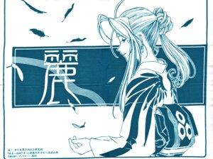 Rating: Safe Score: 3 Tags: ah_my_goddess belldandy kimono monochrome screening User: minakomel