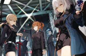 Rating: Safe Score: 19 Tags: business_suit dress fate/grand_order female_protagonist_(fate/grand_order) james_moriarty_(fate/grand_order) jeanne_d'arc jeanne_d'arc_(alter)_(fate) mocha_(mokaapolka) saber saber_alter sherlock_holmes_(fate/grand_order) sword User: yanis