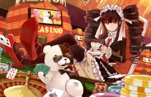Rating: Safe Score: 26 Tags: celestia_ludenberg dangan-ronpa gothic_lolita lolita_fashion monokuma sandro thighhighs User: animeprincess