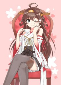 Rating: Safe Score: 42 Tags: kamoto_tatsuya kantai_collection kongou_(kancolle) thighhighs User: fairyren