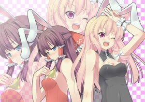 Rating: Safe Score: 13 Tags: akutsu animal_ears bunny_ears bunny_girl cosplay hakurei_reimu kirisame_marisa touhou User: Mr_GT