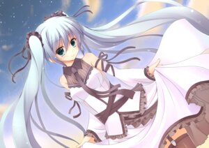 Rating: Safe Score: 37 Tags: dress hatsune_miku if stockings thighhighs vocaloid User: fireattack