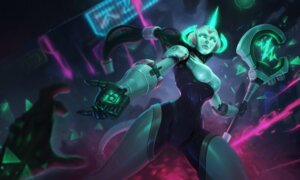 Rating: Safe Score: 9 Tags: league_of_legends mecha_musume soraka tagme weapon User: Radioactive