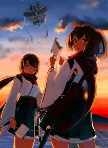 Rating: Questionable Score: 15 Tags: hyuuga_(kancolle) ise_(kancolle) kantai_collection shibafu User: 带带大师兄