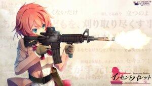 Rating: Safe Score: 43 Tags: cinematograph gun innocent_bullet kanzaki_sayaka oosaki_shinya seifuku wallpaper User: Communist