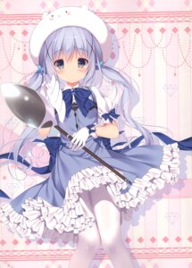 Rating: Safe Score: 55 Tags: chocolate_cube gochuumon_wa_usagi_desu_ka? kafuu_chino miwa_futaba pantyhose waitress User: kiyoe