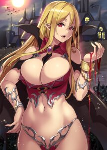 Rating: Questionable Score: 100 Tags: bikini_armor blood cleavage houtengeki koroukan pointy_ears User: Mr_GT