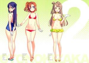 Rating: Questionable Score: 79 Tags: bikini cleavage fixed kousaka_honoka love_live! minami_kotori oyari_ashito shoujo_kishidan sonoda_umi swimsuits User: sergacorp