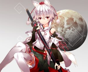 Rating: Safe Score: 44 Tags: animal_ears hide448 inubashiri_momiji sword tail thighhighs touhou User: Mr_GT