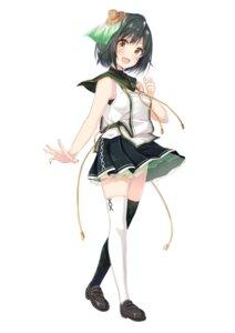 Rating: Safe Score: 24 Tags: chamirai heels nankikatsuura_kiki onsen_musume seifuku skirt_lift thighhighs User: saemonnokami