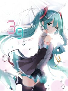Rating: Safe Score: 79 Tags: hatsune_miku kuroi_asahi tattoo thighhighs umbrella vocaloid User: Mr_GT