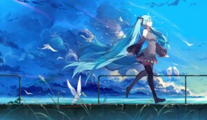 Rating: Safe Score: 90 Tags: baisi_shaonian hatsune_miku landscape thighhighs vocaloid User: Mr_GT