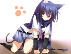 Rating: Safe Score: 40 Tags: angel_beats! animal_ears kuwashima_rein seifuku shiina tail User: SubaruSumeragi