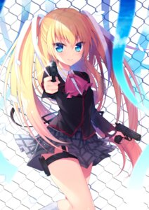 Rating: Safe Score: 53 Tags: garter gun little_busters! seifuku tagme tokido_saya User: Mr_GT