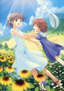 Rating: Safe Score: 14 Tags: clannad dress furukawa_nagisa kogemashita okazaki_ushio paper_texture summer_dress takoyaki User: admin2