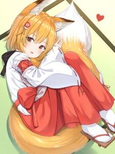 Rating: Safe Score: 47 Tags: animal_ears kitsune miko senko-san sewayaki_kitsune_no_senko-san tail xue_lu User: hiroimo2