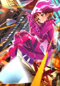 Rating: Safe Score: 25 Tags: bodysuit gun kohiruimaki_karen llenn sword_art_online_alternative:_gun_gale_online swordsouls User: Mr_GT