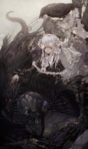 Rating: Questionable Score: 41 Tags: blood dress eyepatch gothic_lolita guro lolita_fashion monster wanke User: mash