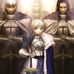 Rating: Safe Score: 35 Tags: armor bedivere_(fsn) fate/stay_night lancelot_(fsn) saber sword takeuchi_takashi type-moon User: demonbane1349
