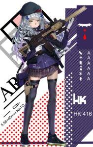 Rating: Questionable Score: 17 Tags: girls_frontline gun hk416_(girls_frontline) pirapira3510 thighhighs User: sym455
