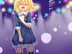 Rating: Safe Score: 20 Tags: dress kagamine_rin thighhighs vocaloid yayoi User: Nekotsúh
