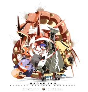 Rating: Safe Score: 25 Tags: crossover electivire gengar gyarados latias nagae_iku pokemon seaking siirakannu touhou User: Metalic