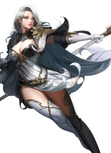 Rating: Safe Score: 39 Tags: armor cleavage daeho_cha dress thighhighs weapon User: mash