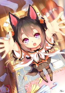 Rating: Safe Score: 75 Tags: animal_ears kyuri_(405966795) neko seifuku tail thighhighs User: zero|fade