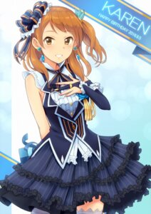 Rating: Safe Score: 25 Tags: dress houjou_karen the_idolm@ster the_idolm@ster_cinderella_girls thighhighs User: hamasen205