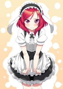 Rating: Safe Score: 61 Tags: akino_sora cosplay gochuumon_wa_usagi_desu_ka? love_live! maid nishikino_maki User: fairyren