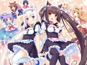 Rating: Safe Score: 189 Tags: animal_ears caramell chocolat cinnamon_(neko_para) cleavage coconut dress heels kimono maid neko_para neko_works nekomimi sayori seifuku stockings tail thighhighs vanilla waitress User: Urameshiya