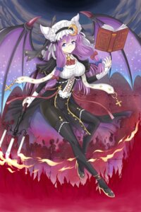 Rating: Safe Score: 36 Tags: heels megane namiki_(remiter00) nun pantyhose patchouli_knowledge stockings thighhighs touhou wings User: Mr_GT