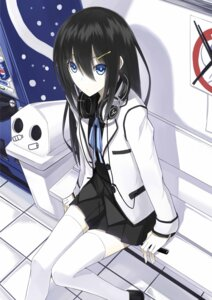 Rating: Safe Score: 59 Tags: headphones kauto seifuku thighhighs User: tbchyu001