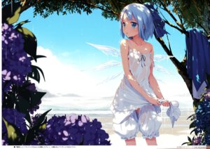 Rating: Questionable Score: 44 Tags: bloomers cirno digital_version dress gekidoku_shoujo ke-ta landscape loli no_bra nopan screening see_through summer_dress touhou wet wet_clothes wings User: fireattack