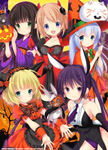 Rating: Questionable Score: 35 Tags: animal_ears azuma_yuki bunny_ears dress gochuumon_wa_usagi_desu_ka? halloween horns hoto_cocoa kafuu_chino kirima_sharo lolita_fashion neko tail tedeza_rize ujimatsu_chiya witch yukata User: fairyren