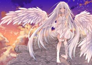 Rating: Safe Score: 33 Tags: bandages bandaid dress hinamushi_(shokuyou) summer_dress wings User: Mr_GT